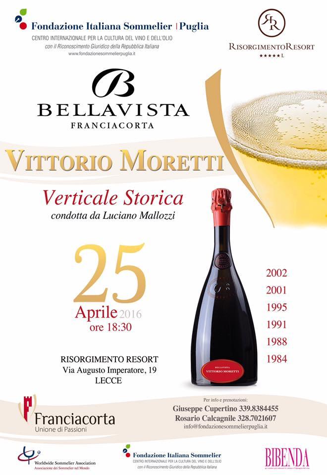 Verticale Storica Franciacorta Vittorio Moretti 25 Aprile 2016 a Lecce